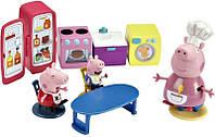 Кухня Пеппы (кухонная мебель и техника, 3 фигурки). Peppa Pig