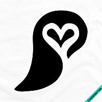 Декор на текстиль для дома Узор сердце [7 размеров в ассортименте] (Тип материала Матовый)