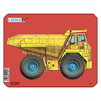 Пазл-вкладыш Самосвал, серия МИНИ, Z1-4, Larsen