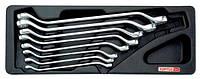 Набор ключей накидных 6-22 мм (угол 45°) 8 ед. (в ложементе) GAAT0808 GAAT0806