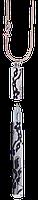 """Ручка шариковая """"lace"""" с цепочкой 70см, белый ls.402027-12"""