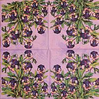 Салфетка Анютки на фиолетовом фоне 055
