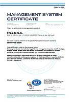 Сертификат технического качества Фраз-ле