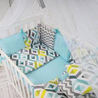 Комплект постельного белья для мальчиков Baby Design Premium ромбы