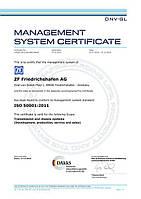 Сертификат технического качества Sachs (ZF)