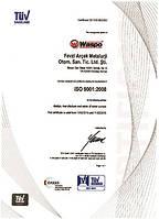 Сертификат технического качества Waspo