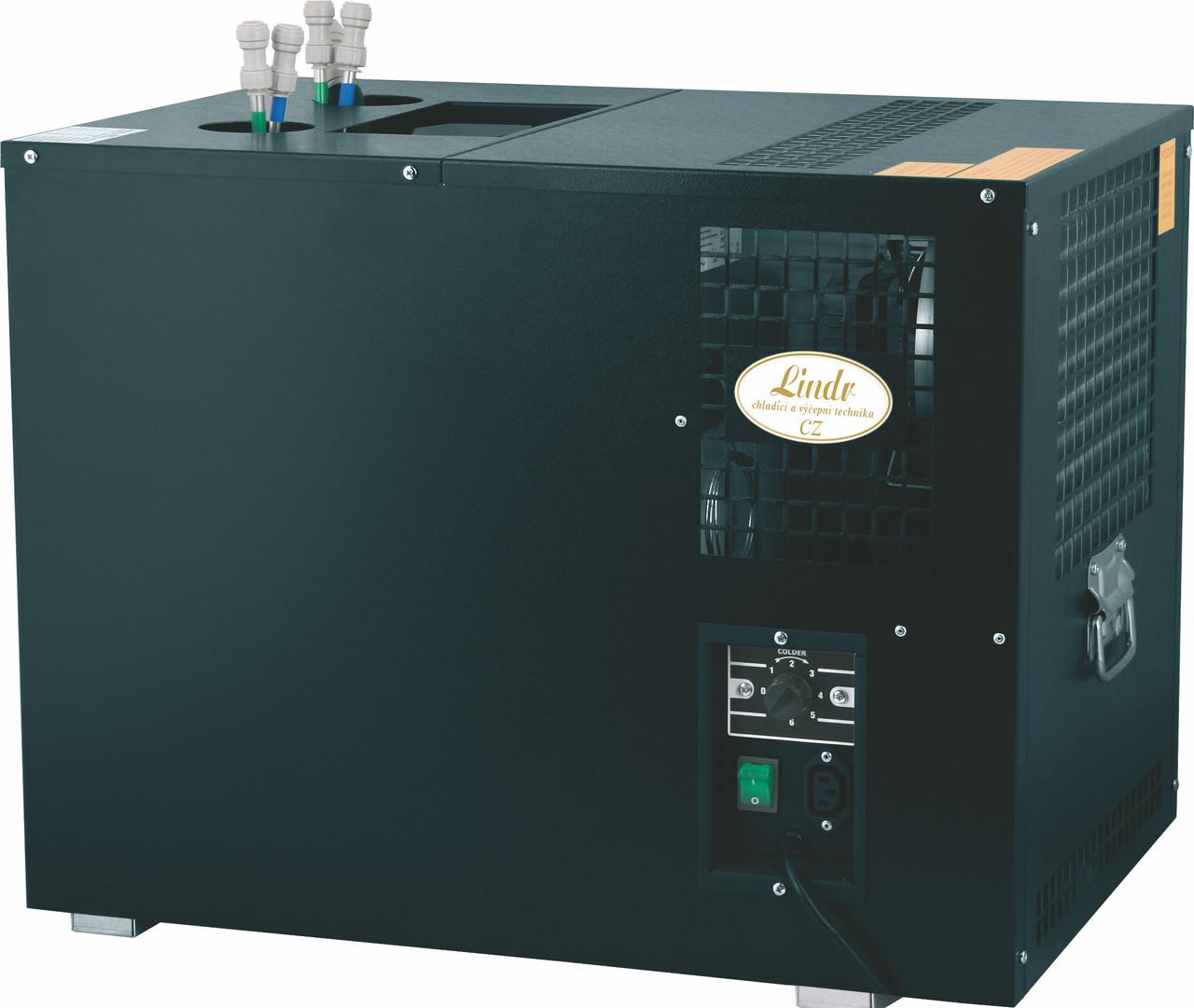 Подстоечный проточный пивной охладитель - 110 л/ч - проточный, AS 110 (6 контуров), Lindr, Чехия