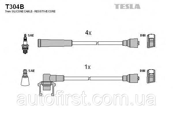 Провода зажигания Tesla T304B Renault