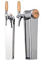 Колонна для розлива пива NAKED DUB, дубовая плакетка и рукоятка крана, Lindr, Чехия