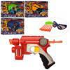 Пистолет 118A-5-6, 25см,очки,мягкие пули-присоски 6шт,мишень,2вида,микс цвет,в кор,32-22,5-6см