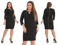 Черное замшевое платье LUX-010