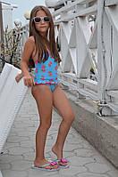 Слитный детский купальник Della Marika G 104 (3) Голубой
