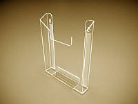 Карман объемный для буклетов А6 (105х148) (Толщина акрила : 1,8 мм;  Кркплкние: Двухсторонний скотч;)