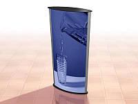 Напольный рекламный лайтбокс 650х1025 мм (Постер: Без постера;  Цвет ДСП: Алюминий;)