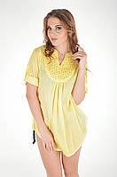 Короткая пляжная туника для девушки Iconique KO 651 G 46(L) Желтый Iconique KO 651 G