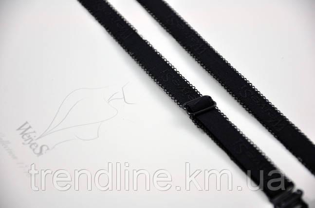 Бретели WeiyeSi  ширина - 10 мм Чёрный, фото 2