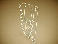 Пластиковвй настінний кишеня для флаєрів (99х210) на 3 клітинки (Товщина акрилу : 1,8 мм; ), фото 1