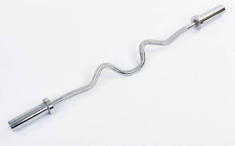 Гриф для штанги Олимпийский Z-образный (1,2м, рук. d-50мм, гр. d-25мм,8,3кг, без замков)