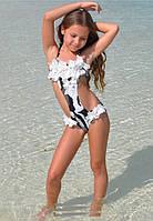 Купальник с кружевом для подростков BAEL Белоснежка 5536 116 Черно-Белый BAEL 5536