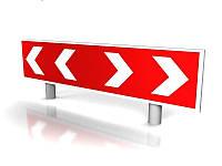 Дорожный знак направления поворота 300х1500 мм (Нанесение пленки: I генерации (не светоотражающая, Германия);