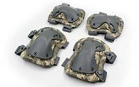 Защита тактическая наколенники, налокотники  (ABS, полиэстер 600D, пиксель ACU PAT)