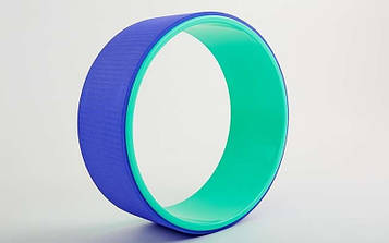 Колесо-кільце для йоги Fit Wheel Yoga (PVC, TPE, р-р 32х13см, зелено-фіолетовий)