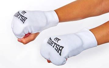 Накладки (рукавички) для карате MATSA (р-р XS-L, білий)