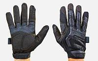 Перчатки тактические с закрытыми пальцами MECHANIX MPACT (р-р M-XL, черный)