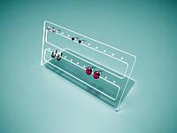 Акрилова підставка під сережки 250х130 мм (Матеріал : Прозорий акрил 1,8 мм; ), фото 1