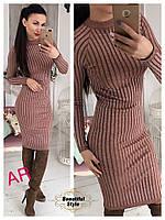 Облегающее вязаное платье с люрексом 01