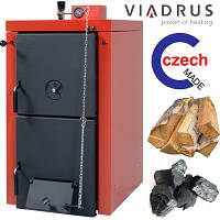 Viadrus Hercules U22 С 2 секции ( 11,7кВт ) Твердотопливные котлы  - каменный уголь,кокс, дрова (Чехия)  - универсальный чугунный котёл