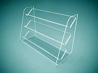 Підставка під лаки на 3 полиці 315х210х133 мм (Товщина акрилу : 1,8 мм; ), фото 1