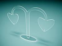 """Підставка під сережки """"Дерево любові"""" (Матеріал : Прозорий акрил 1,8 мм; )"""