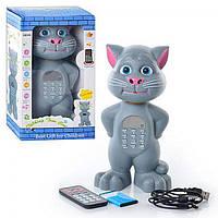Говорящий кот Том с USB, аккумулятором, пультом, микрофоном SK#06