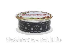 Декоративная лента 7663 ажурная пластиковая, на клейкой основе 1м*1,5 см. (10 цв. микс)