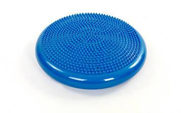 Подушка балансувальна масажна BALANCE CUSHION (PVC, d-34см, 1000гр, синій)