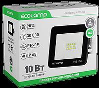 Светодиодный LED прожектор ECOLAMP 10W-900lm-6500K-IP65
