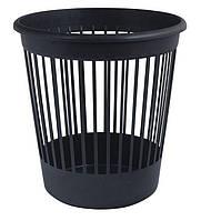 Корзина офисная для бумаги 10л., пластик, черная