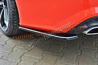 Диффузор на задний бампер в стиле S-Line для Audi A7 2014 послерест.