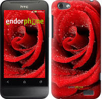 """Чехол на HTC One V t320e Красная роза """"529u-227-5114"""""""