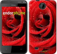"Чехол на HTC Desire 300 Красная роза ""529u-224-5114"""