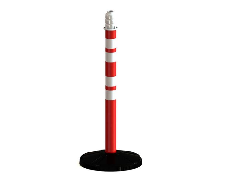 70 мм - пластиковый круглый столб с пластмассовым основанием