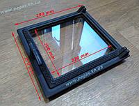 Дверки чугунные со стеклом + зольная с поддувом (комплект)