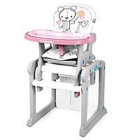 Стульчик для кормления Baby Design Candy - Польша - трансформируется в стол и стул Розовый