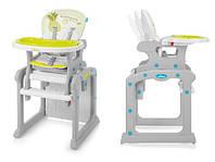 Стульчик для кормления Baby Design Candy - Польша - трансформируется в стол и стул Зеленый
