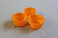 Маленькие одноразовые формы для выпечки кексов и конфет, оранжевые, 100 шт.