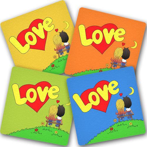 """Подставка под горячее """"Love"""" (4 разных)"""