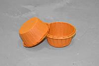 Бумажная форма с усиленным бортиком, оранжевая