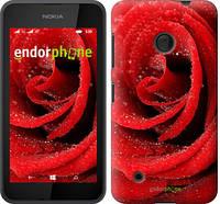 "Чехол на Nokia Lumia 530 Красная роза ""529u-205-5114"""