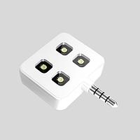 Фонарик 4 LED для фото видео съемки белый
